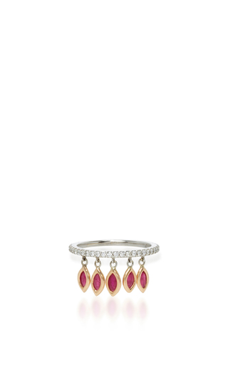 Medium sharon khazzam red ruby shimmee ring