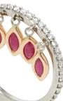 Ruby Shimmee® Ring  by SHARON KHAZZAM Now Available on Moda Operandi