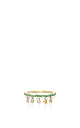 Medium sharon khazzam green emerald shimmee ring