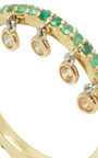 Emerald Shimmee® Ring by SHARON KHAZZAM Now Available on Moda Operandi
