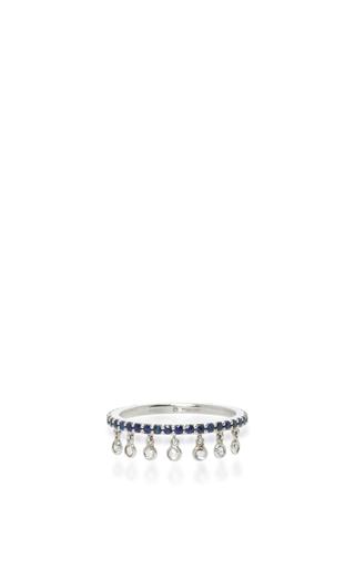 Medium sharon khazzam blue blue sapphire shimmee ring
