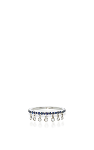 Medium sharon khazzam blue blue sapphire shimmee ring