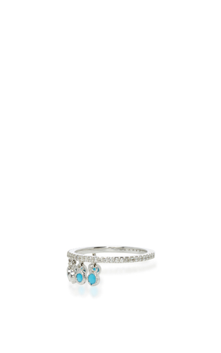 Turquoise Shimmee® Ring by SHARON KHAZZAM Now Available on Moda Operandi