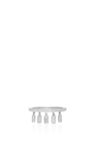 Medium sharon khazzam silver diamond shimmee ring 2
