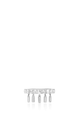 Medium sharon khazzam silver diamond shimmee ring