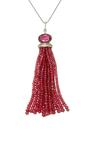 Colin Tassel Necklace by SHARON KHAZZAM Now Available on Moda Operandi
