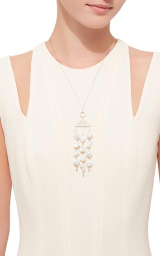 Colin Pearl Necklace by SHARON KHAZZAM Now Available on Moda Operandi
