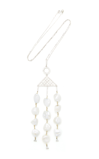 Medium sharon khazzam white colin pearl necklace