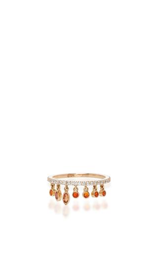 Orange Shimmee® Ring  by SHARON KHAZZAM Now Available on Moda Operandi