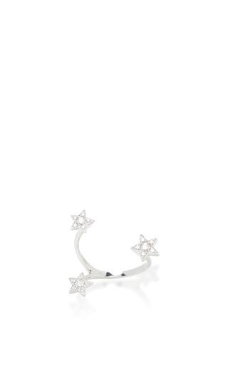 Medium stefere silver 18k white gold stars ring