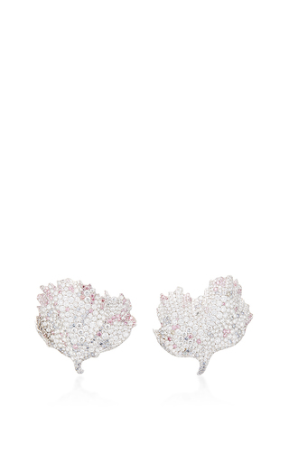 Medium faberge silver eglantines earrings