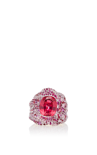 Medium faberge pink vagabonde drapee rosee ring