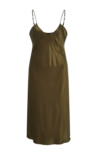 Medium nili lotan olive short cami dress 3