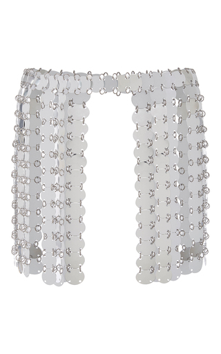 Medium fannie schiavoni silver scale skirt