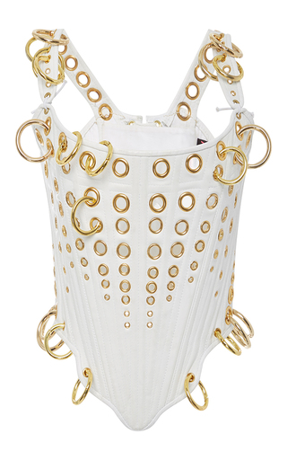 Medium the blonds white gold ring corset top