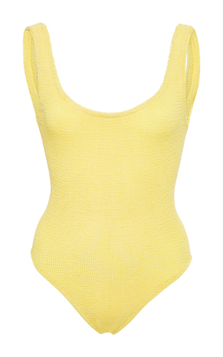 Medium hunza g yellow classic swim maillot