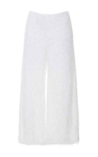 Medium anna sammarone white high waist textured culottes