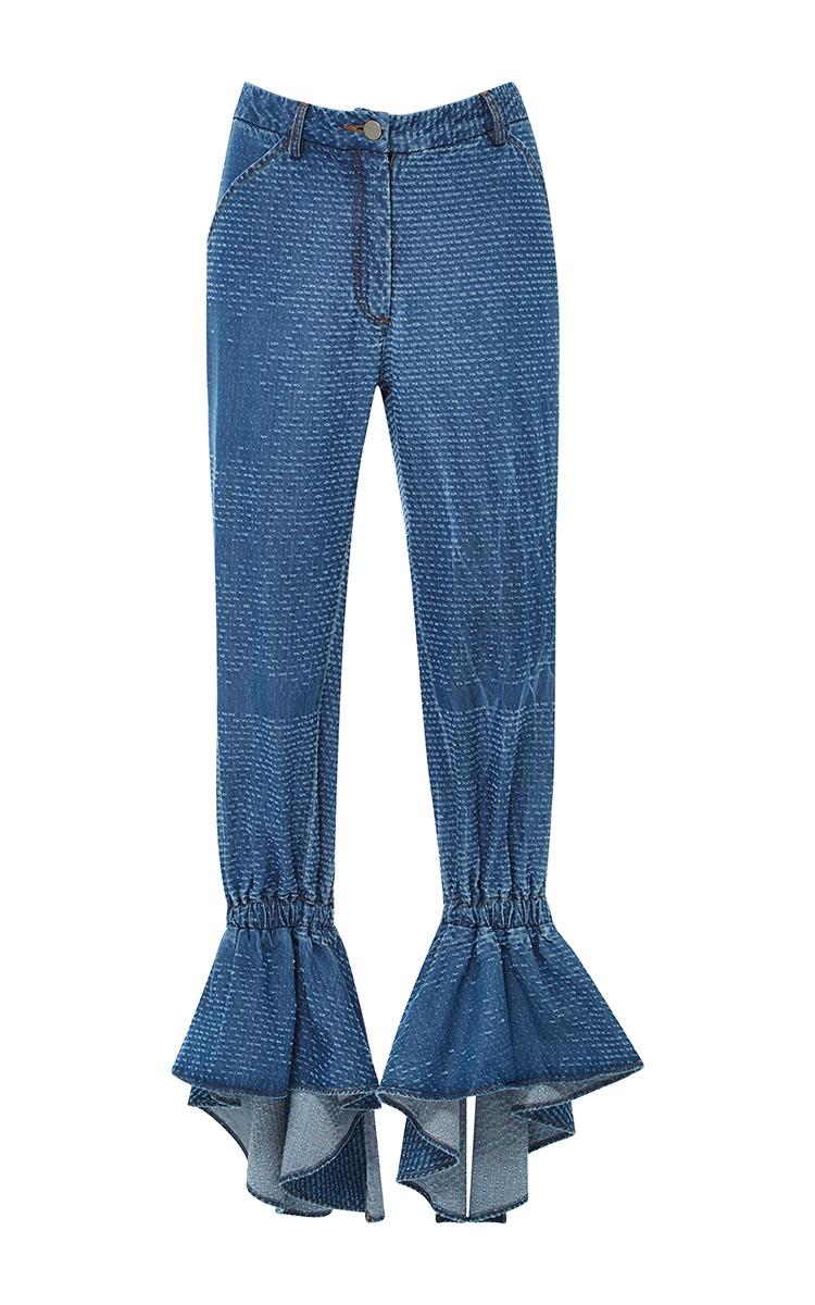 Ruffle Hem Pants