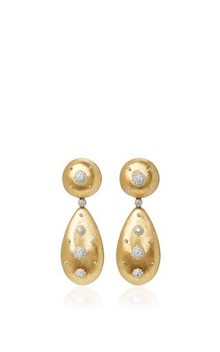 Medium buccellati gold macri pendant earrings