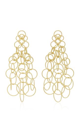 Medium buccellati gold hawaii long pendant earrings