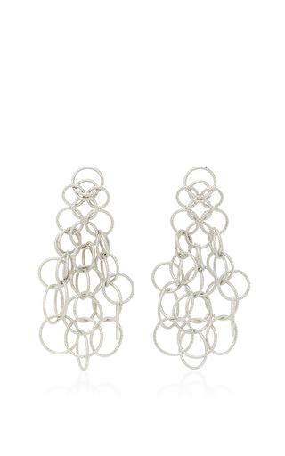 Medium buccellati silver hawaii short pendant earrings