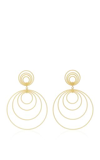 Medium buccellati gold hawaii waikiki version pendant earrings