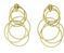 Medium buccellati gold hawaii waikiki pendant earrings