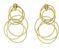 Medium buccellati gold hawaii waikiki pendant earrings