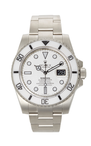 Rolex Submariner 'snowtrooper' by BAMFORD WATCH DEPARTMENT for Preorder on Moda Operandi