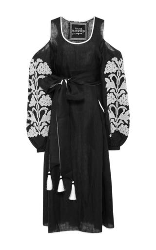Medium yuliya magdych black embroidered linen dress 2