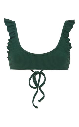 Medium made by dawn green ribbed bikini top