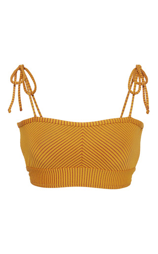 Medium made by dawn yellow ribbed bikini top 2
