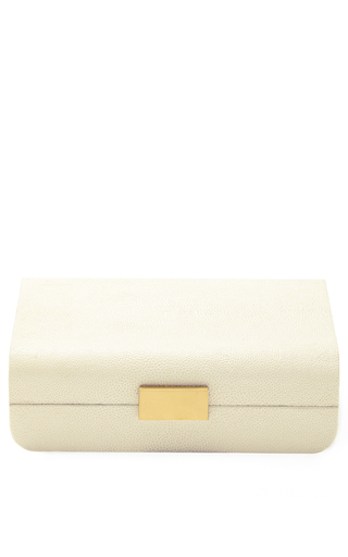 Medium aerin ivory small modern shagreen jewelry box