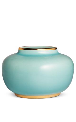 Medium aerin light blue delphine oval vase