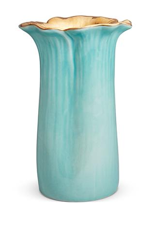 Medium aerin light blue delphine flower vase
