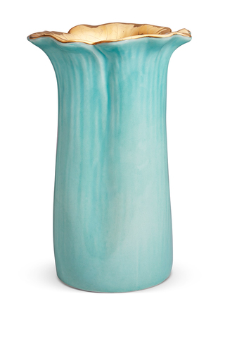 Medium aerin light blue delphine flower vase