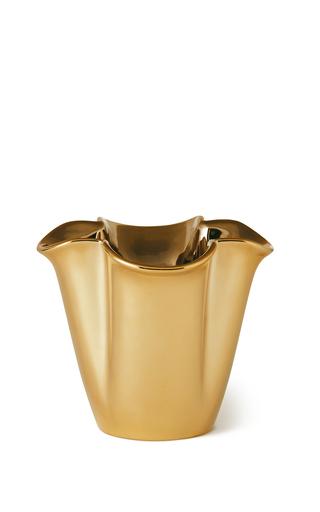 Medium aerin gold small gilded clover vase