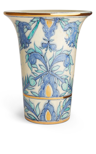Medium aerin blue marcelle trumpet vase