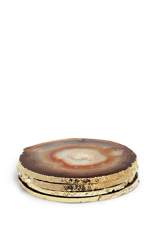 Medium aerin brown agate coasters