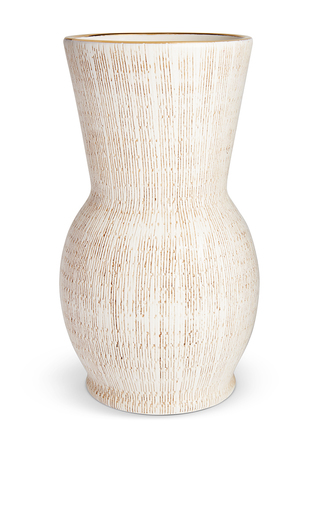 Medium aerin white amelie hourglass vase