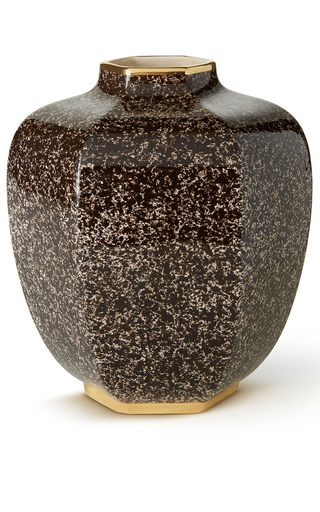 Medium aerin brown toulon geo vase