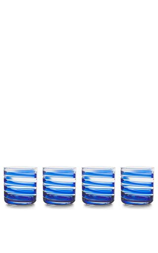 Medium aerin blue swirl water glass