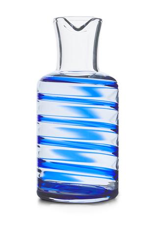 Medium aerin blue swirl glass carafe