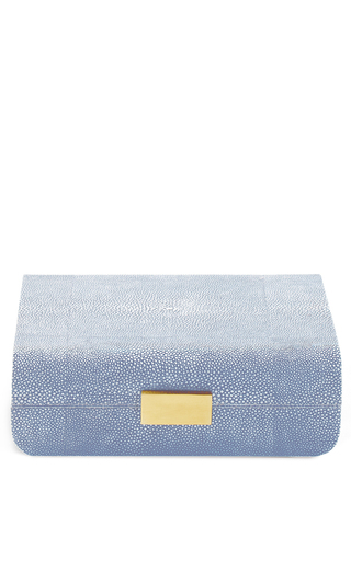 Medium aerin blue small modern embossed resin jewelry box 2