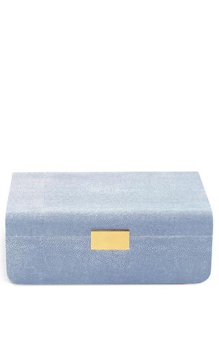 Medium aerin blue large modern shagreen jewelry box 2