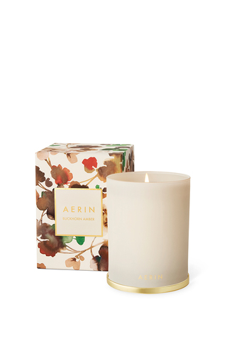 Medium aerin ivory buckhorn amber scented candle