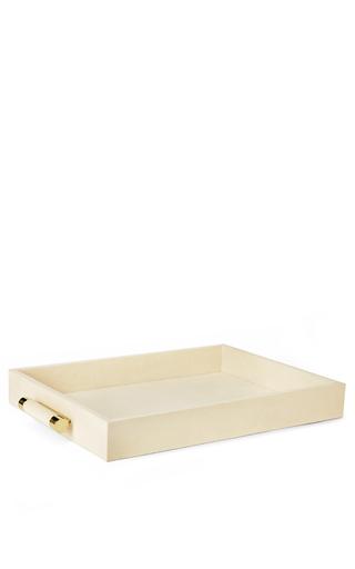 Medium aerin ivory classic embossed resin serving tray