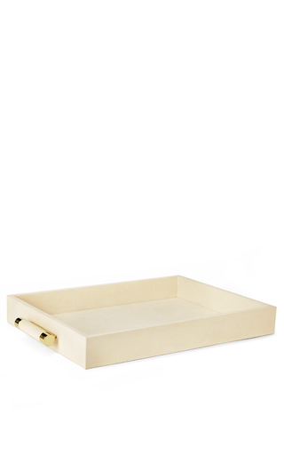 Medium aerin ivory classic embossed resin serving tray