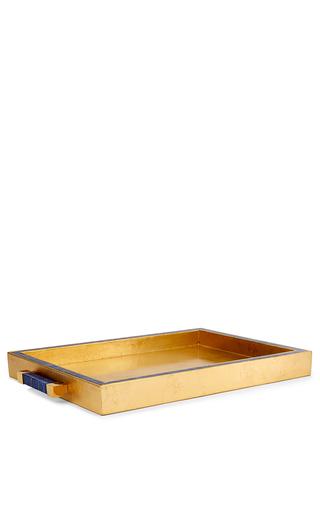 Medium aerin blue lapis lazuli tray