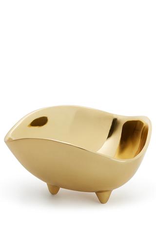 Medium aerin gold medium triangular serving bowl